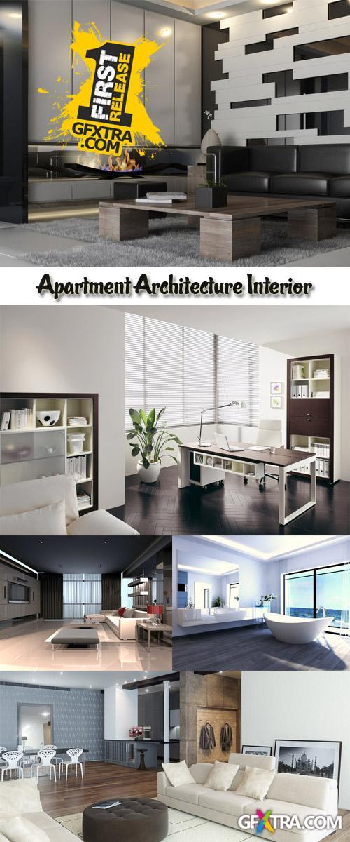 Stock Photo: Apartment Architecture Interior