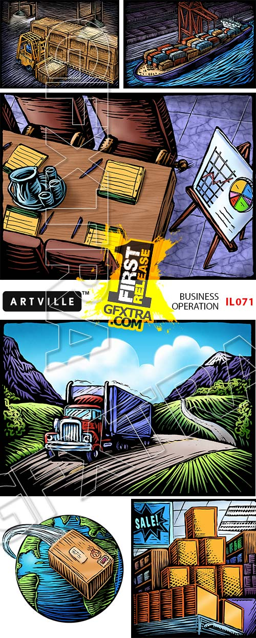 Artville Illustrations IL071 Business Operation