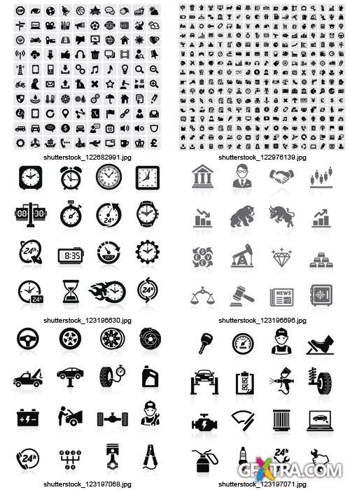 Amazing SS - Black & White Icons, 25xEPS