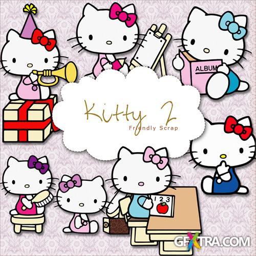 Scrap-kit - Painted Kitty #2