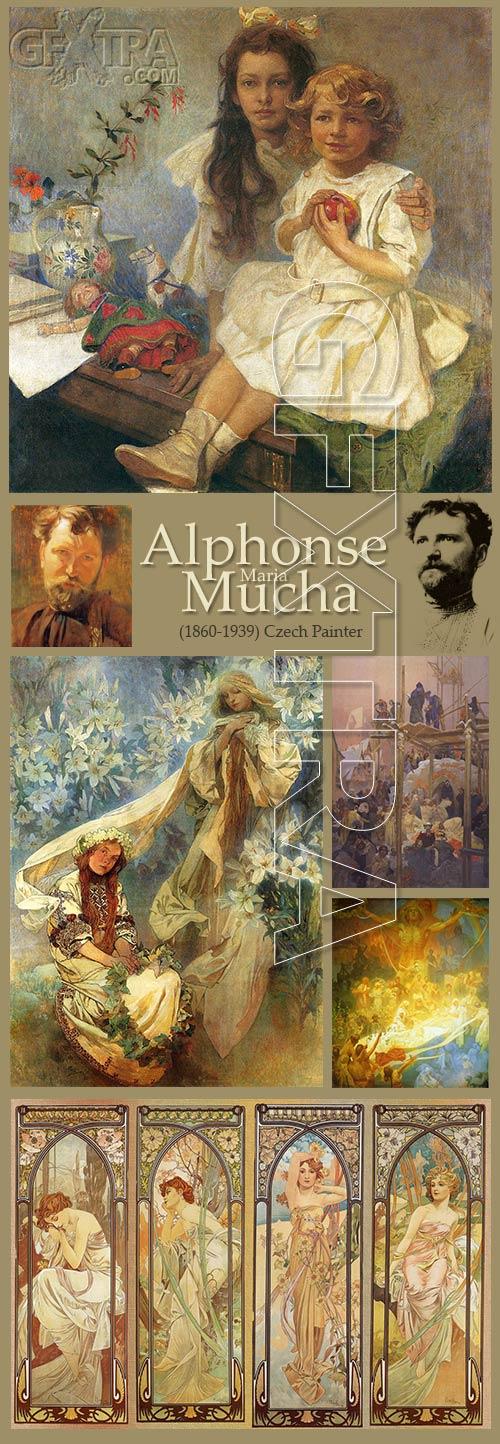Alphonse Maria Mucha (1860-1939) Czech Painter