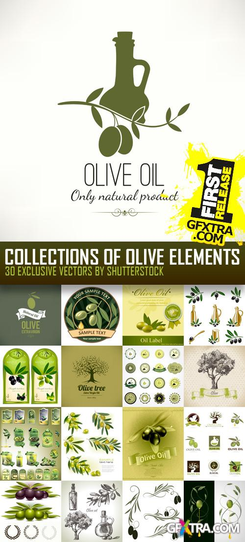 Amazing SS - Collections of Olive Elements, 30xEPS
