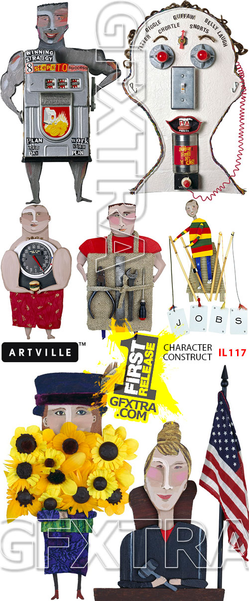 ArtVille Illustrations IL117 Character Construct