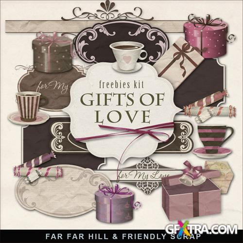 Scrap-set - Gifts Of Love - Valentines Day 2013
