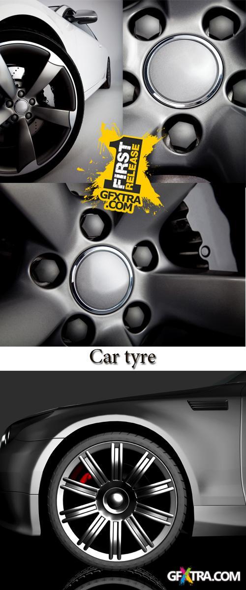 Stock Photo: Car tyre