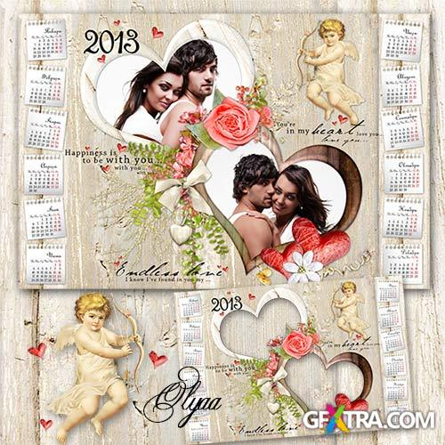 Romantic calendar 2013 - You are my love