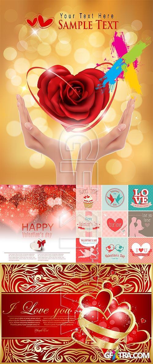 Stock vector - Valentine cards 00014