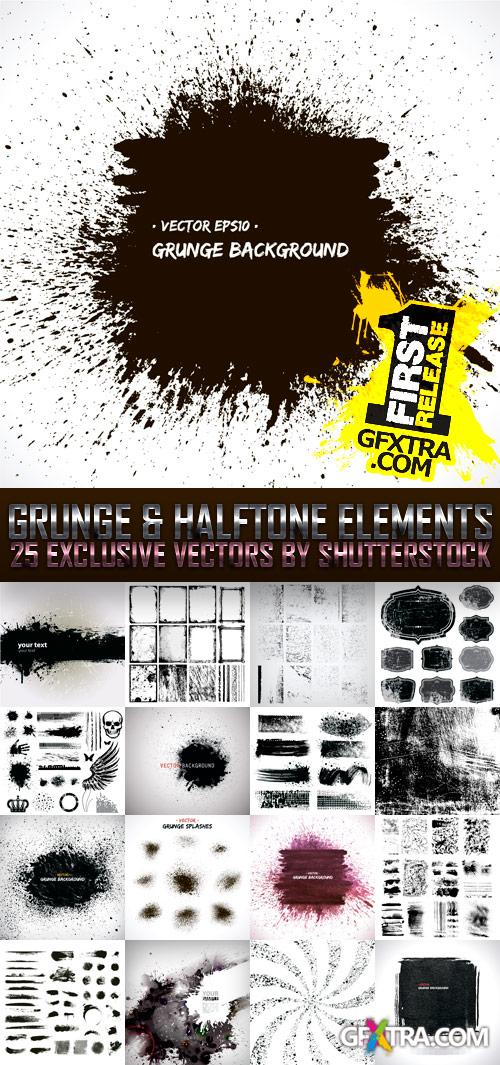Amazing SS - Grunge & Halftone Elements, 25xEPS