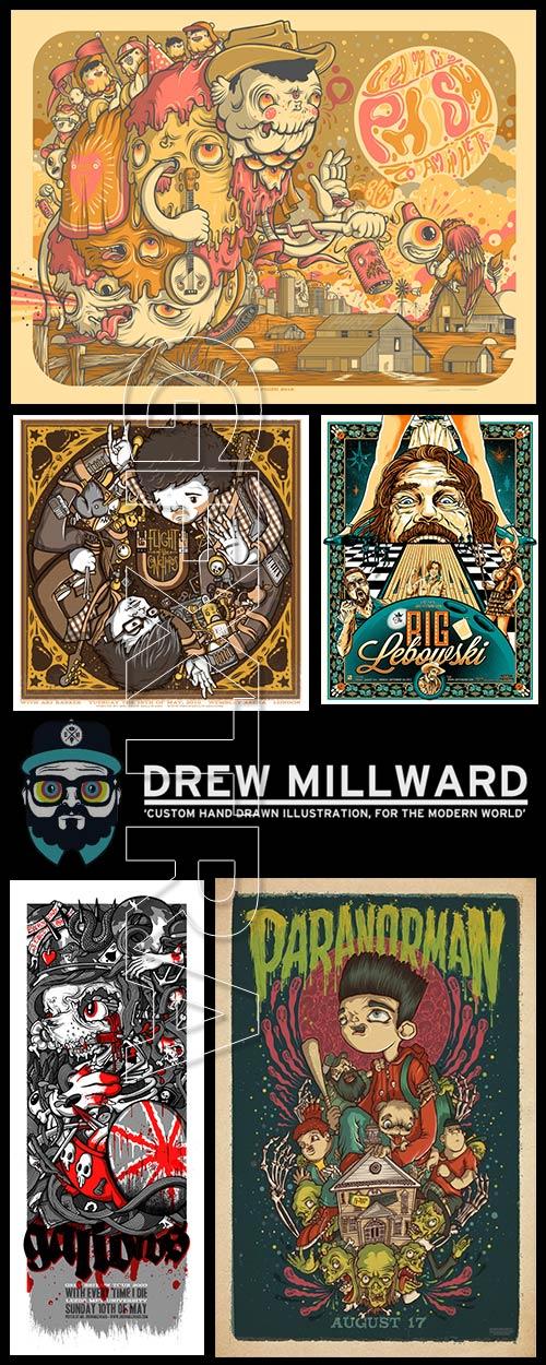 Drew Millard, British Illustrator