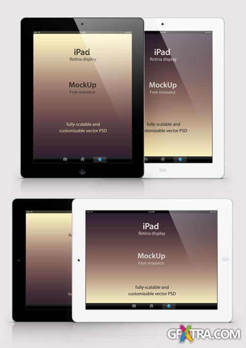 iPad Retina Mockup PSD Template