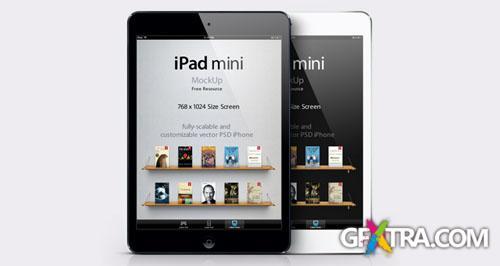 iPad Mini Vector Mockup PSD Template
