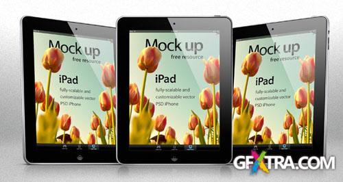 iPad Vector Mockup PSD Template #1