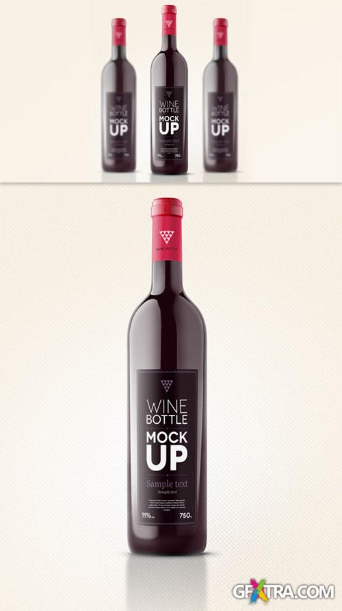 Wine Bottle Mockup PSD Template