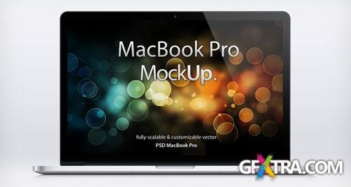 MacBook Pro Retina Mockup PSD Template