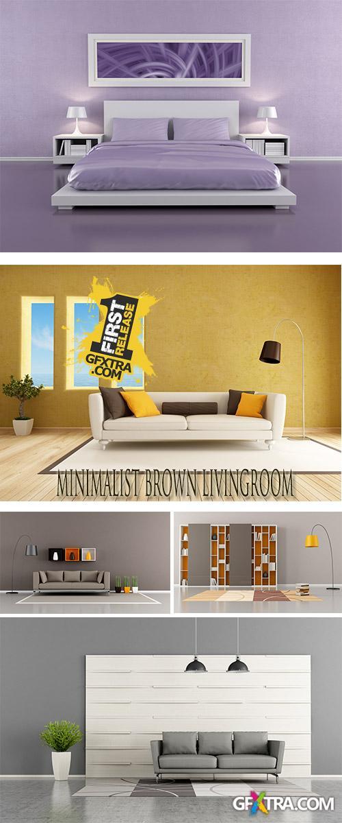 Stock Photo: Room interior in style of minimalism