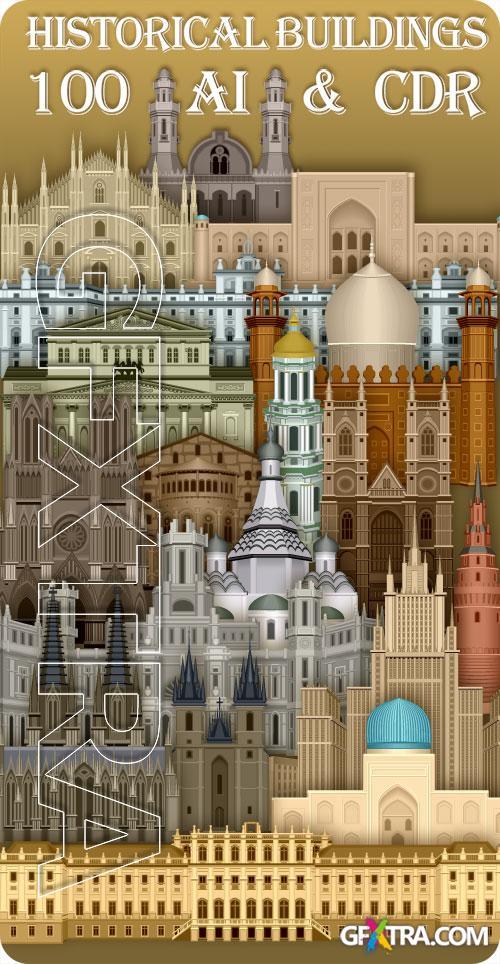 100 Historical Buildings in Vectors! 100xAI