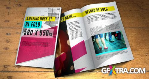 Bifold Brochure Mock-Up PSD Template