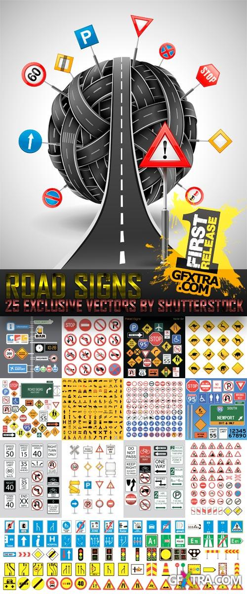 Amazing SS - Road Signs, 25xEPS