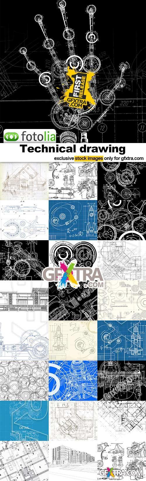 Technical Drawing - 20x EPS + 4 JPEG