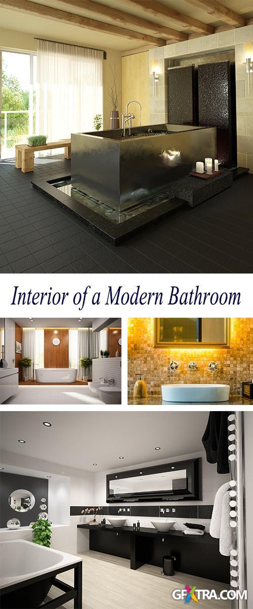 Stock Photo: Beautiful Interior of a Modern Bathroom