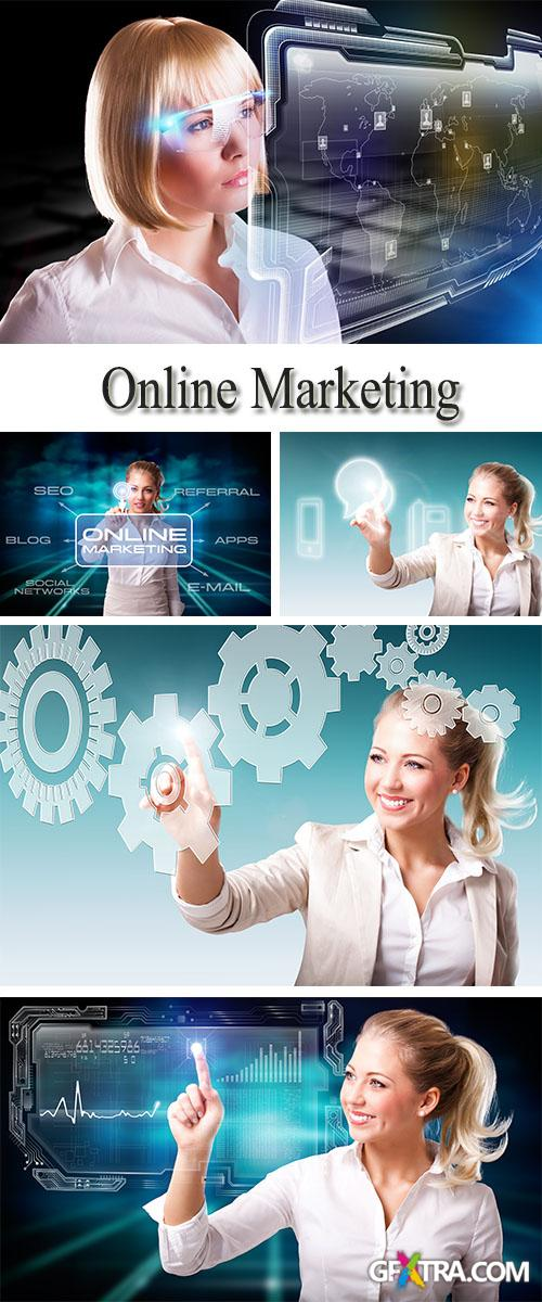 Stock Photo: Online Marketing