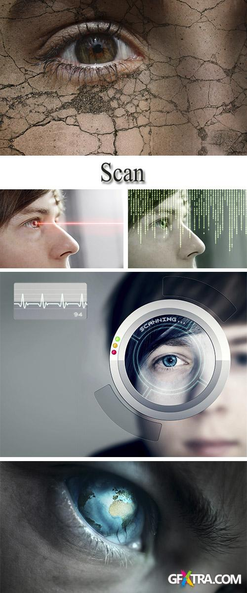 Stock Photo: Scanning of a retina of an eye
