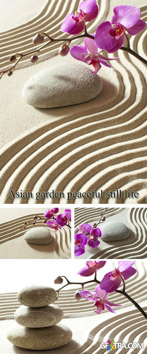 Stock Photo: Asian garden peaceful still life