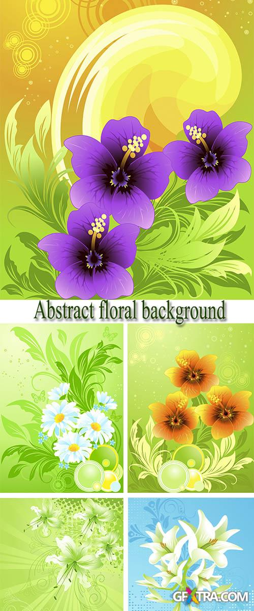 Stock: Abstract floral background