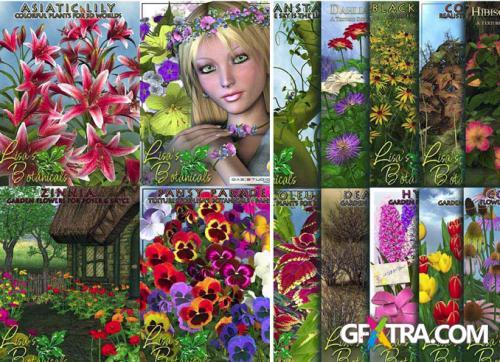 Lisa's Botanicals - Full Collection of Plants for Daz3D