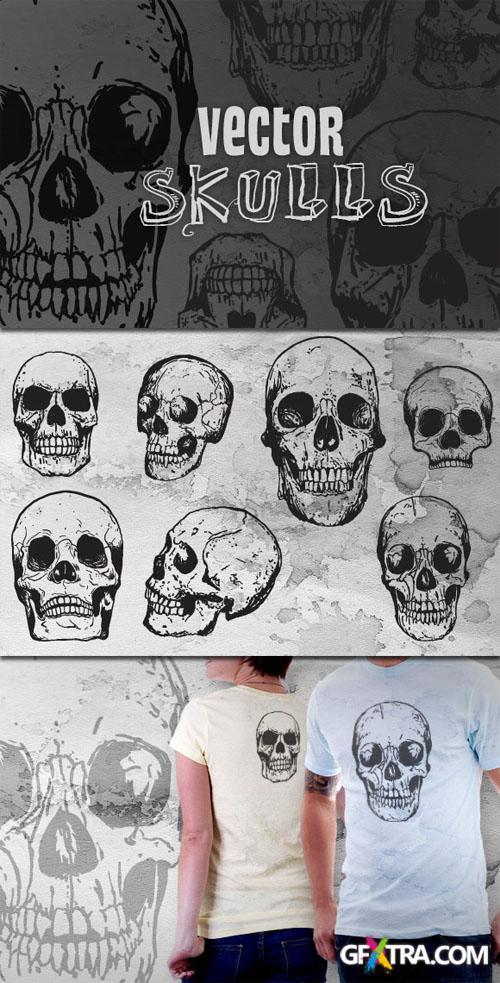 WeGraphics - Hand Drawn Vector Skulls Vol. 2