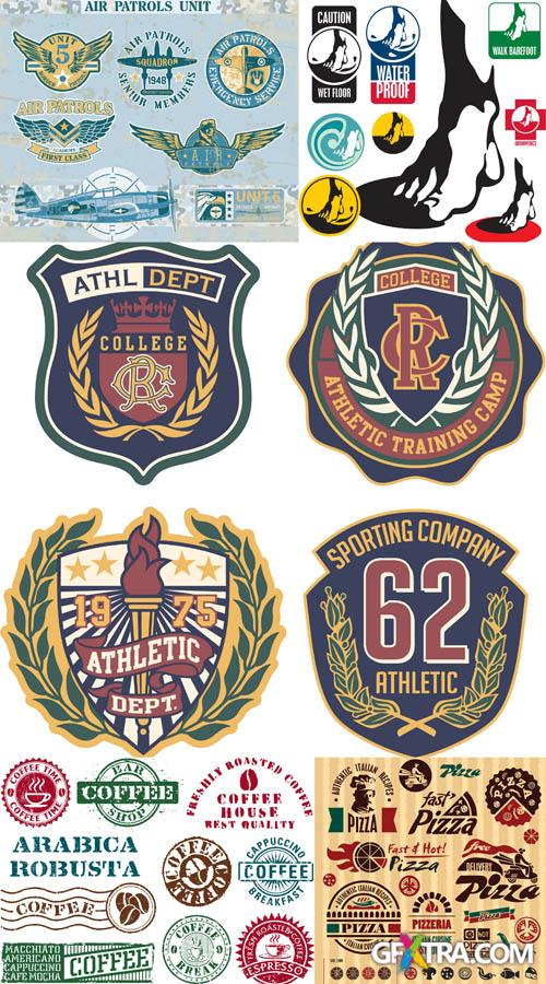 Retro and Vintage Labels - Vector Set #8