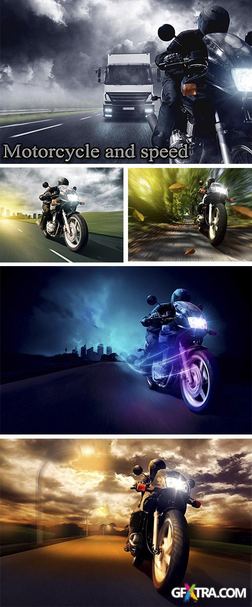 Stock Photo: Motorcycle and speed