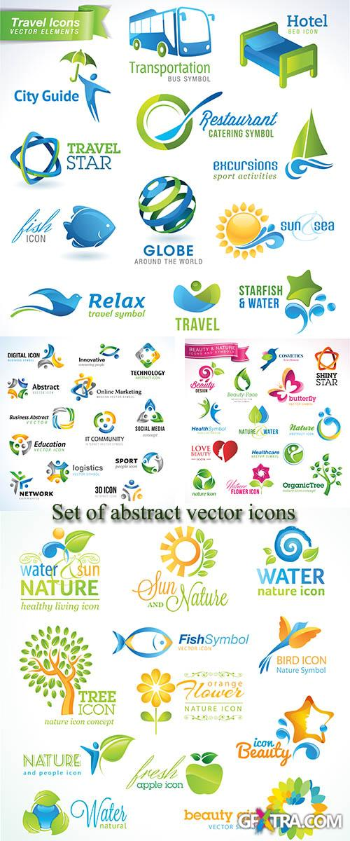 Stock: Set of abstract vector icons