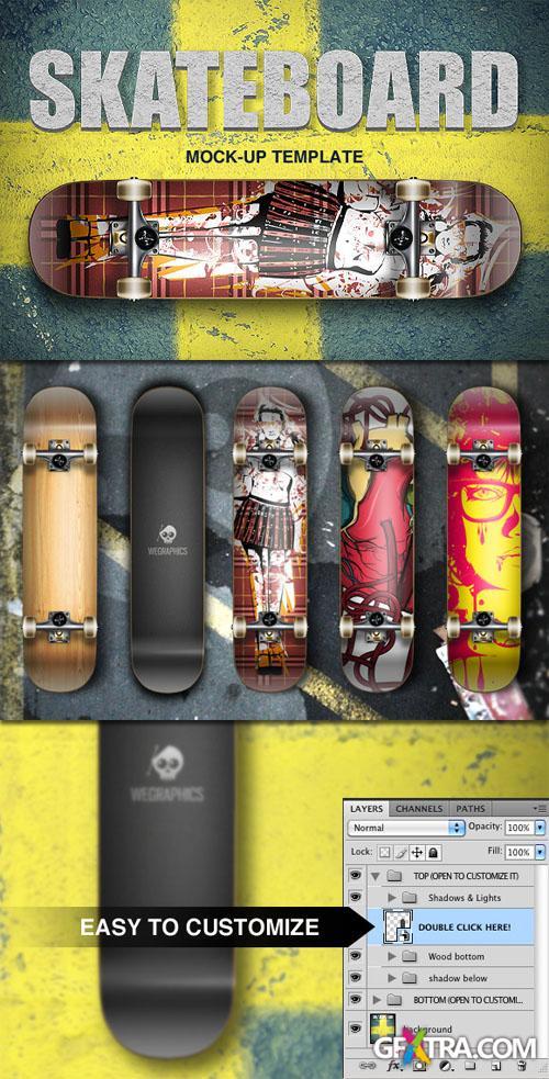 WeGraphics - Skateboard Template
