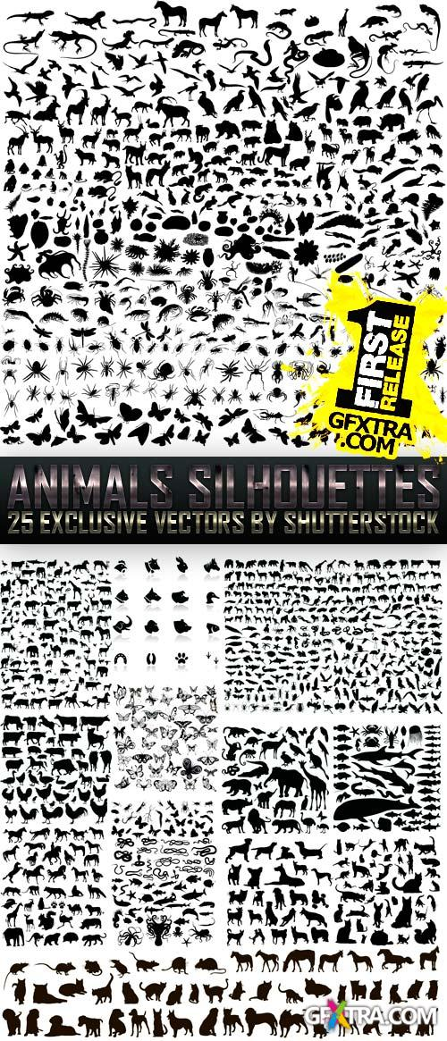 Amazing SS - Animals Silhouettes, 25xEPS