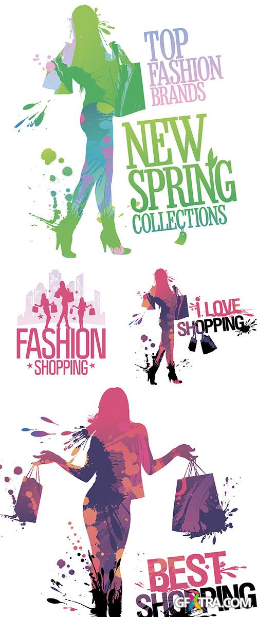 Stock: Fashion shopping design template