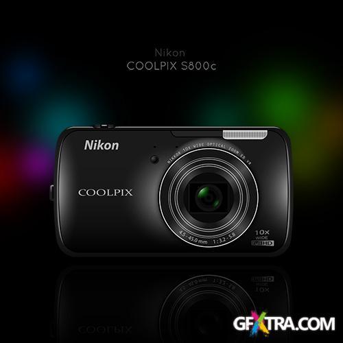 PSD Source - Nikon COOLPIX S800c