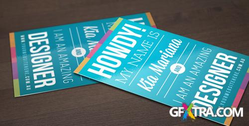 Retro Typographic Business Card Template