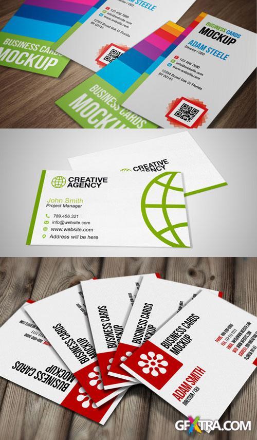 3 Business Cards Mock Up