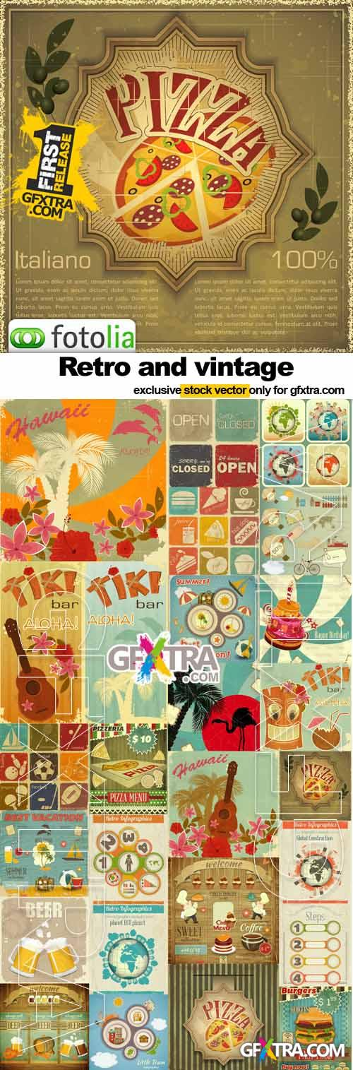 Retro and vintage collection - 25xEPS