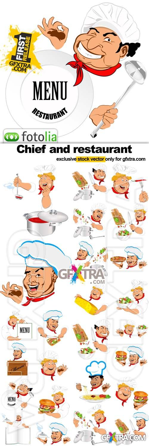 Chief and restaurant - 25xEPS