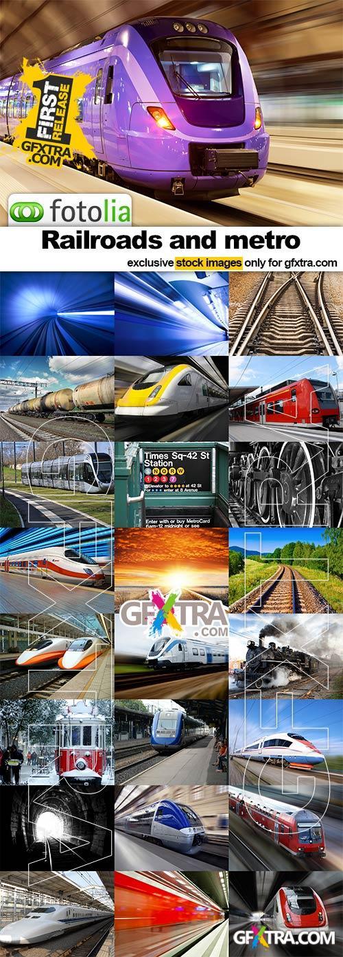 Railroads and metro - 25x JPEGs