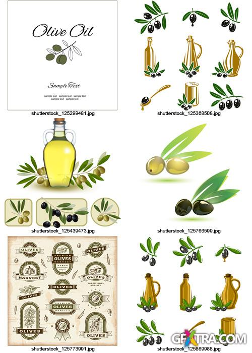 Amazing SS - Collections of Olive Elements 2, 25xEPS
