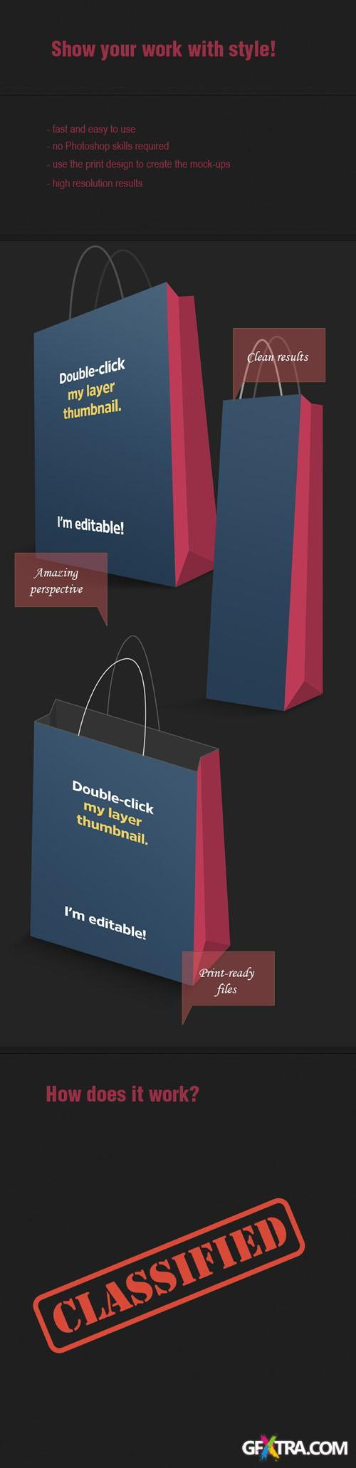 Designtnt - Shopping Bags PS Mock-ups