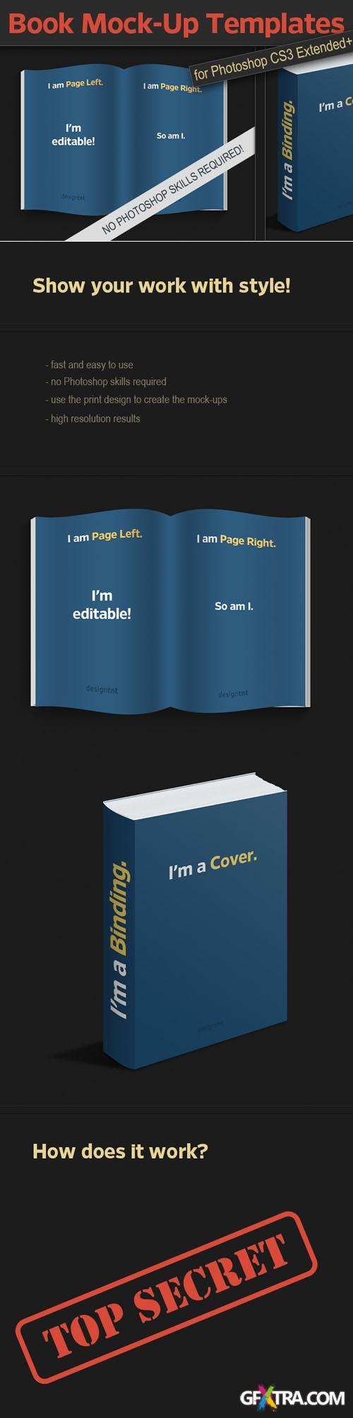 Designtnt - Photo-realistic Book PS Mock-ups