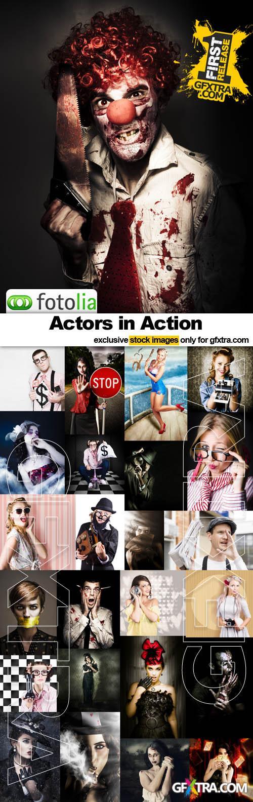 Actors in Action - 25x JPEGs
