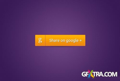 Google Plus Button PSD Resources