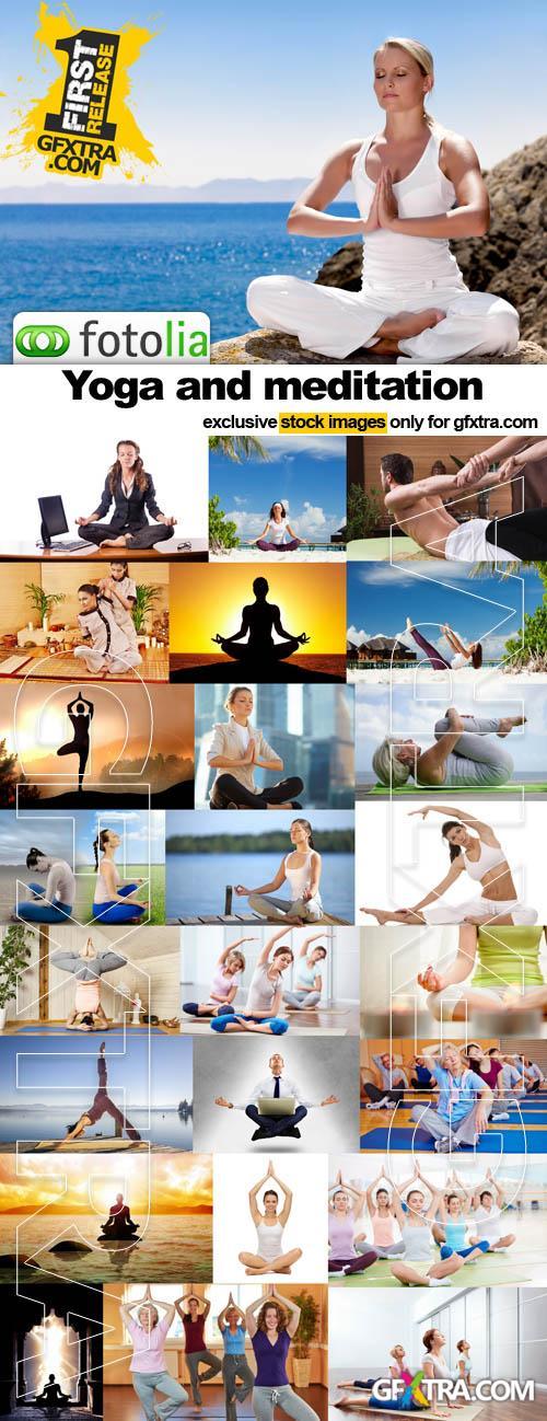Yoga and meditation - 25x JPEG