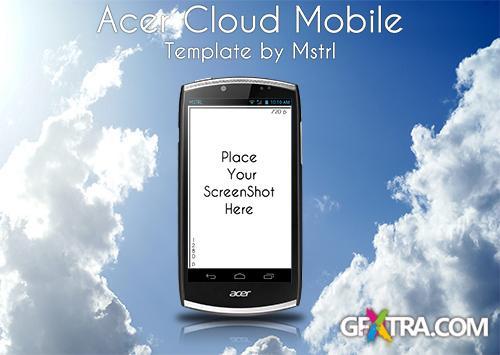 Acer CloudMobile PSD Template