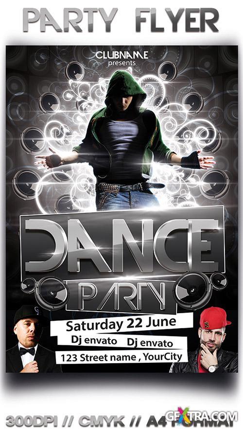PSD Source - Dance Party Flyer 2013